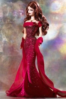 Birthstone Barbie Collection - July Ruby 2002.  Bought on ebay for 9.99 July 2013.