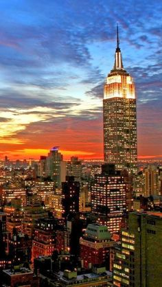 """Empire State Building, New York - """"Be sure to buy your tickets online before hand and go for the express tickets, gets you past the queues, take your time enjoying the sights from both the 56th and 102nd floors,just before sunset!"""" https://foursquare.com/top-places/new-york-city/best-places-sunsets"""