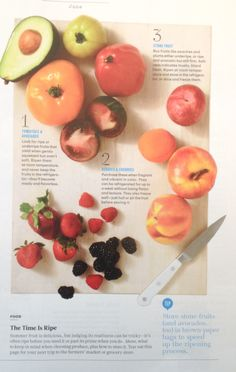 How to pick ripe summer fruit and vegetables