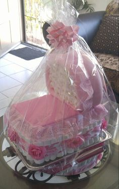 Bassinet diaper cake Diaper Motorcycle Cake, Nappy Cakes, Baby Shower Centerpieces, Bassinet, Decor, Crib, Decoration, Decorating, Baby Crib
