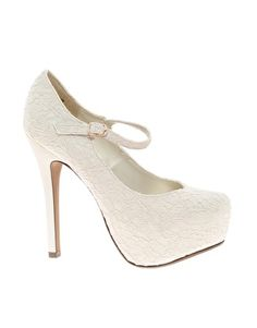 New Look Voile Crochet Heeled Shoes. bride shoes. classic style. low cost. 39,75€
