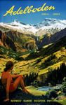 Adelboden 1952 Adelboden, Places In Switzerland, Skiing, Most Beautiful, Mountains, Nature, Travel, Switzerland, Event Posters