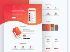 Festa App Landingpage by Respogrid