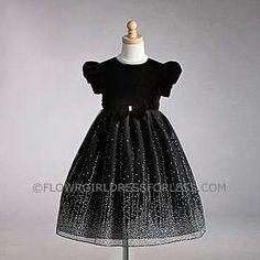 Flower Girl Dress Style 905- Short Sleeved Velvet Bodice with Caviar Beaded Organza Skirt
