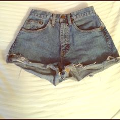 Vintage style high waist shorts These jean shorts give you a retro/vintage look. Worn a few times, too small for me now GAP Shorts Jean Shorts