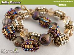 Beaded Bead Pattern PDF  Jelly Beans by Monomint on Etsy