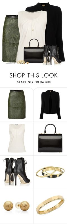"""""""Leather for the Office"""" by houston555-396 ❤ liked on Polyvore featuring TIBI, FAY, Weekend Max Mara, Simone Rocha, Jimmy Choo, Karen Kane, Kenneth Cole and Carelle"""