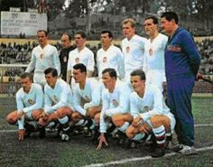 Czechoslovakia team group at the 1962 World Cup Finals.