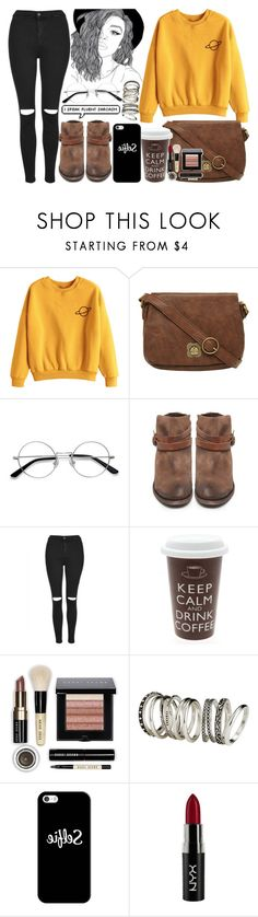 """""""Untitled #625"""" by still-into-malik ❤ liked on Polyvore featuring Nica, EyeBuyDirect.com, H by Hudson, Topshop, Bobbi Brown Cosmetics, H&M, Casetify and NYX"""