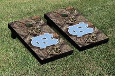 North Carolina UNC Tar Heels Cornhole Game Set Mossy Oak Version