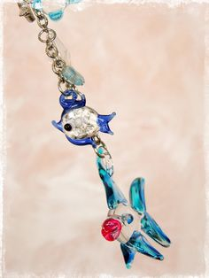 Fishy Car Charm for Rear View Mirror Car Accessories by Our Bead Box, $25.00