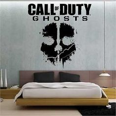 call of duty diy decor | Call of Duty Ghosts Wall Stickers / Wall Transfer / Vinyl Wall Art ...