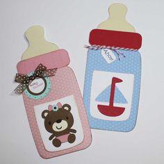Baby Shower Invitations - Bottle shape,