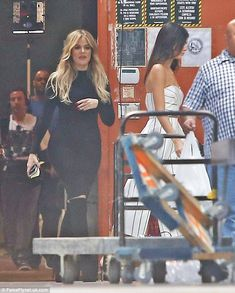 This way! The ladies headed indoors, with Khloe following in Kendall's lead  ...