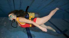 Scuba Girl, Underwater, Marble, Deep, Lady, Diving, Girls, Under The Water, Granite
