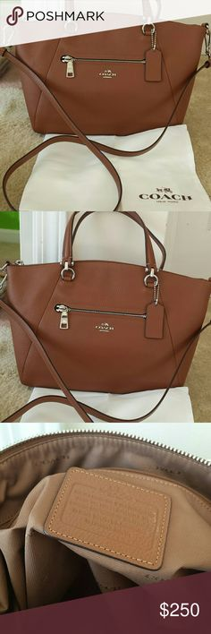 NEW AUTHENTIC COACH HANDBAG Lovely crossbody 2 strap hanbag with 1 outside zipper and 1 inside zipper. Coach Bags Crossbody Bags
