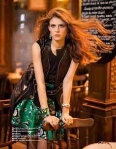 Hippie Glam 70's (Harper's Bazaar China) yulia serzhantova