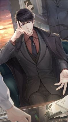 "I imagine him saying ""This isn't what I asked for James"" 😂😂😂 Cool Anime Guys, Handsome Anime Guys, Hot Anime Boy, Romantic Anime Couples, Anime Couples Manga, Manga Anime, Anime Picture Boy, Desenhos Love, Familia Anime"