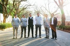 Groomsmen in knits |