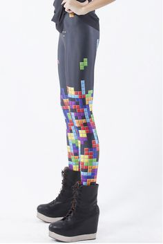 These Tetris leggings: I am on a mission to find these and buy these leggings! Don't even try to stop me. | Community Post: 28 Wardrobe Essentials For Female Gamers