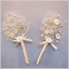 These are a gorgeous alternative to the fresh buttonhole flower worn by the groom xxx