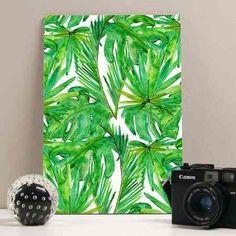 placa tropical leaves 20x29