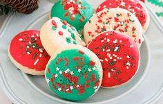 Χριστουγεννιάτικα μαλακά μπισκότα βουτύρου