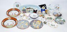 Een kavel diverse porselein en aardewerk, w.o. Rosenthal kop-en-schotel, Hollands plateel, visschaal, een Frans en een Tsjechisch art deco vaasje, etc