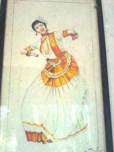mohiniyattam..Painting by shynu ponnariyan