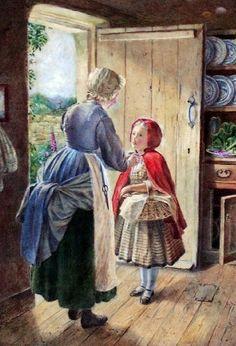 Robert Bruce Wallace (Scottish artist, fl1867-1881) Red Riding Hood