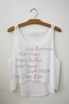 One Direction Band Members Names Talent Cropped by SoulClothes, $23.99 will have this.