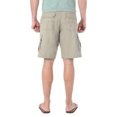 Wrangler Men's Big & Tall Cargo Shorts - Dark Khaki (Green) 46