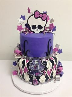 her favourite Monster High Character 😍👌 Cumple Monster High, Monster High Cakes, Monster High Party, Monster High Birthday Cake, Cupcakes, Cupcake Cakes, Beautiful Cakes, Amazing Cakes, Girl Cakes