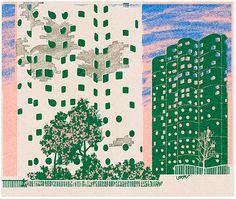 Leonie Bos' architectural illustrations are informed by traditional printmaking