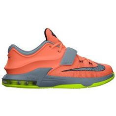 huge selection of beee9 6e302 Nike KD VII - Boys  Grade School - Bright Mango Light Magnet  Grey Volt Space Blue
