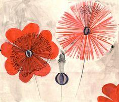 Felice Rix-Ueno, textile design Big Flowers, 1903-32. Wiener Werkstätte