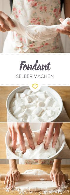 Make your own fondant: the recipe with guaranteed success- Fondant selber machen: Das Rezept mit Geling-Garantie Not only looks beautiful, it& also child& play – promised! With the right tips and tricks, you can easily make your fondant yourself. Cupcake Recipes, Baking Recipes, Cupcake Cakes, Dessert Recipes, Oreo Cupcakes, Snacks Recipes, Dinner Recipes, Health Desserts, No Bake Desserts