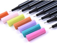 Fineliners Pens for Bujo and Coloring, Set of 24 Colors – The White Pad Brush Markers, Marker Pen, Coloring Set, Fineliner Pens, Drawing For Kids, Ink Art, Genealogy, Rainbow Colors, Bujo