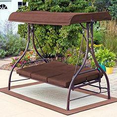 Amazon Com Abba Patio 3 Seat Outdoor Polyester Canopy