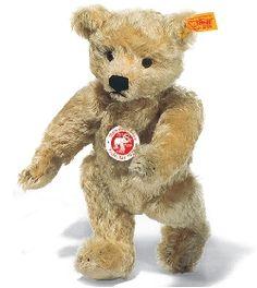 Ours Teddy CLASSIC 1920 mohair blond clair 25 cm Steiff-Peluche.fr - La Boutique des peluches STEIFF en France #teddy #nounours #doudou