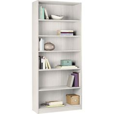 Maine Tall and Wide Extra Deep Bookcase - White.homebase