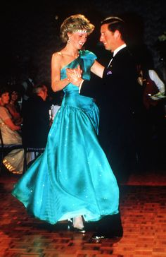 Princess Diana:  Prince and Princess of Wales dance in Australia, 1985