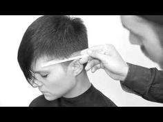 Short Rounded Undercut & Scissor over comb Pixie Haircut - YouTube