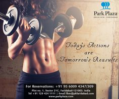 Let's work out for a perfect and healthy life. Your life is precious to us. Stay fit, stay healthy while traveling at Park Plaza, Faridabad.   Reservation: +91 - 129 4241111  Or,  Visit us: www.sarovarhotels.com/delhi-hotels/park-plaza-faridabad   #Gym #Workout #Healthylifestyle #Lifestyle #Hotel #BestHotelinFaridabad #FaridabadHotels #ParkPlazafaridabad #HotelsinFaridabad