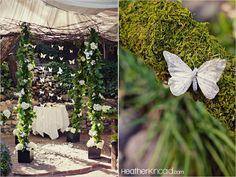 Inn of the seventh ray Erin and Steve wedding, butterflies