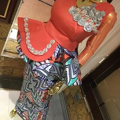 Image may contain: 1 person standing African Wear Dresses, Latest African Fashion Dresses, African Print Fashion, African Attire, African Print Dress Designs, Ankara Designs, Ankara Styles, African Fashion Traditional, Latest Dress Design