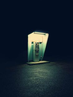 alone, night, telephone booth Minimal Photography, Night Photography, Fine Art Photography, Street Photography, Dream Photography, Nocturne, Telephone Booth, Night Vale, Light And Shadow