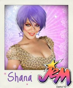 Jem And The Holograms Celebrity Mock Ups - Rihanna