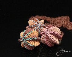 Artichoke Ball Pendants by Eva Ehmeier, aka Hoedlgut on Flickr: made of polymer clay
