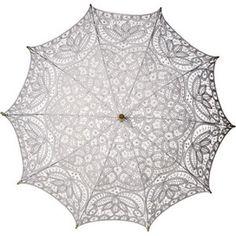 White Cotton Lace Parasol